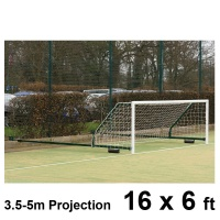 Harrod 3G Steel Fence Folding Football Goal Posts (3.5 - 5.0m Projection) (16 x 6ft / 4.88 x 1.83m) FBL588 (Pair)