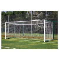 Harrod 3G Aluminium Fence Folding Football Goal Posts - With 3.5 - 5.0m Projection (24 x 8ft / 7.32 x 2.44m) FBL615 (Pair)
