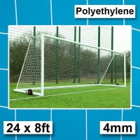 Harrod 4mm Polyethylene for Integral Weighted Football  Goal Nets with 2.13m Runback (24 x 8ft / 7.32 x 2.44m) FBL636 (Pair)