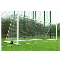 Harrod 3G 'Original' Integral Weighted Aluminium Football Portagoals With Wheels (21 x 7ft / 6.4 x 2.13m) FBL637