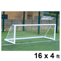 Harrod 3G 'Original' Integral Weighted Aluminium Football Portagoals (16 x 4ft / 4.88 x 1.22m) FBL644 (Pair)