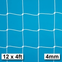 Harrod 4mm Extra Heavy Duty Integral Weighted Portagoal Football Nets (12 x 4ft / 3.66 x 1.22m) FBL663 (Pair)