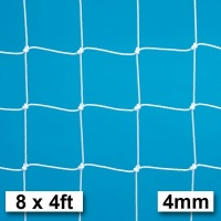 Harrod 4mm Extra Heavy Duty Integral Weighted Portagoal Football Nets (8 x 4ft / 2.44 x 1.22m) FBL666 (Pair)