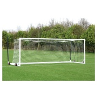 Harrod 3G Aluminium Euro Football Portagoals - Wheels & Nets Extra (24 x 8ft / 7.32 x 2.44m) FBL683 (Pair)