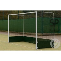 Harrod Freestanding Steel Hockey Goals (Wood Backboard) (HOC015) (Pair)