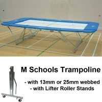 Schools Regulation Trampoline with Lifter Roller Stands (M Model)