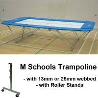 Schools Regulation Trampoline with Roller Stands (M Model)