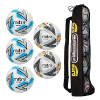 Mitre Matchday Ball Tube Bundle 3 ( 3 x Impel Max, 2 x Ultimatch Max )