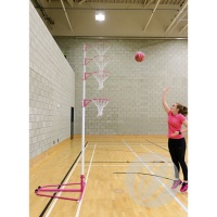 Harrod Telescopic Netball Posts ( Adjustable 4 Heights) (NBL113)