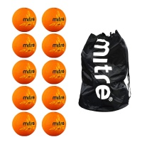 Oasis Netballs x 10 in Mitre Ball Sack