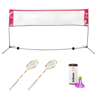 Outdoor Badminton Net, Rackets and Shuttle Set 1 (2 Player)