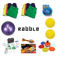 Rabble Game Equipment (with unbranded bibs)