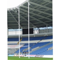 Harrod Socketed Aluminium Rugby Posts (No Hinges)
