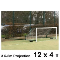 Harrod 3G Aluminium Fence Folding Football Goal Posts (3.5 - 5.0m Projection) (12 x 4ft / 3.66 x 1.22m) FBL584 (Pair)