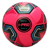 iPro Nova Football (Pink) High Performance Grained Surface. Soft Feel (Sizes 3,4,5)